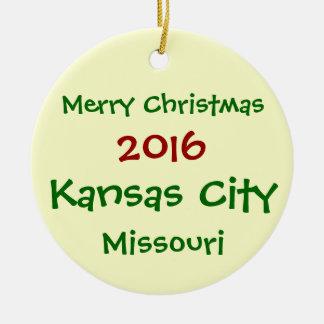 NEW 2016 KANSAS CITY MISSOURI CHRISTMAS ORNAMENT