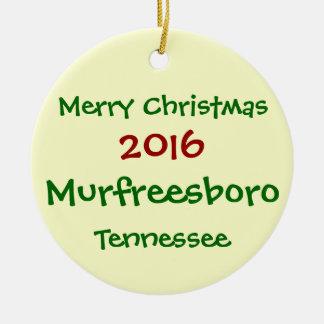 NEW 2016 Murfreesboro Tennessee CHRISTMAS ORNAMENT
