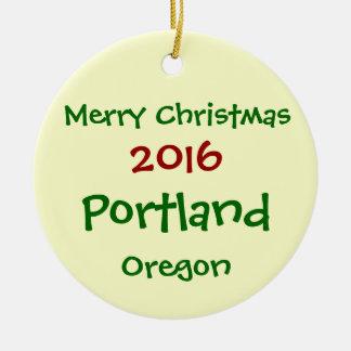 NEW 2016 PORTLAND OREGON MERRY CHRISTMAS ORNAMENT