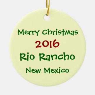NEW 2016 Rio Rancho New Mexico CHRISTMAS ORNAMENT