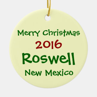 NEW 2016 ROSWELL NEW MEXICO CHRISTMAS ORNAMENT