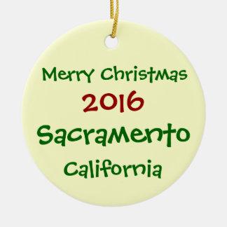 NEW 2016 SACRAMENTO CALIFORNIA CHRISTMAS ORNAMENT