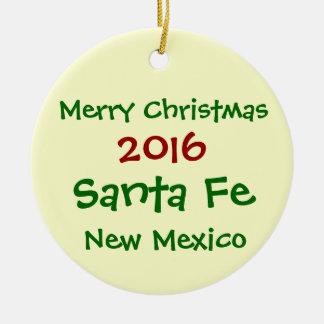 NEW 2016 SANTA FE NEW MEXICO CHRISTMAS ORNAMENT