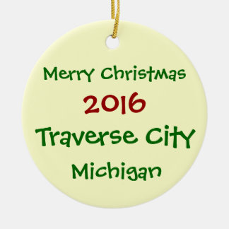 NEW 2016 TRAVERSE CITY MICHIGAN CHRISTMAS ORNAMENT