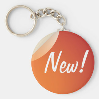 "NEW 2.25"" Basic Button Keychain"