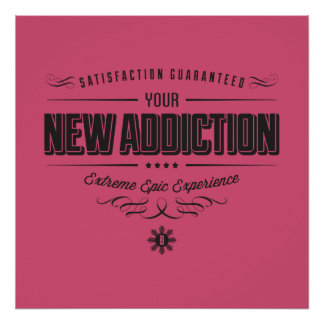NEW ADDICTION Bold Star Posters
