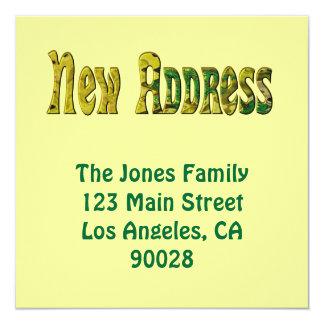 New Address 13 Cm X 13 Cm Square Invitation Card