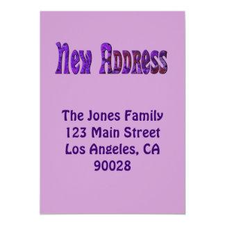 New Address 13 Cm X 18 Cm Invitation Card