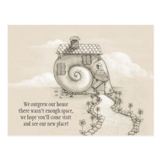New address art snail house Postcard