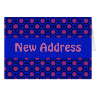 New Address Blue and pink Dots template