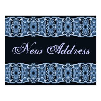 New Address blue black Postcard