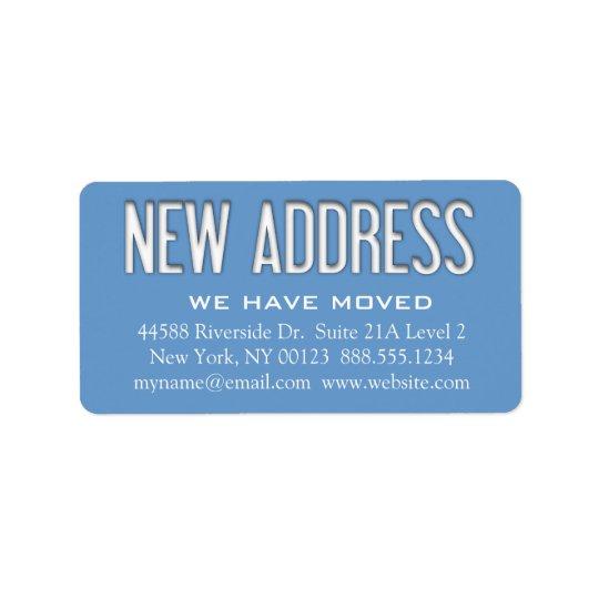 """New Address"" Change Notification Label Address Label"