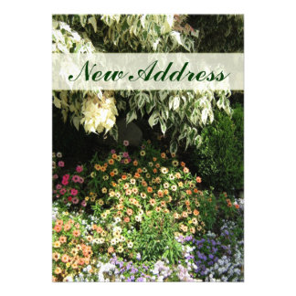 New Address flower garden Personalized Invitations