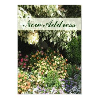New Address flower garden Personalized Invitations