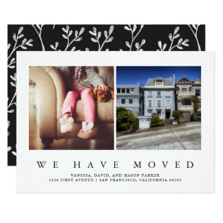 New Address | Modern Minimalist Two Photo Card