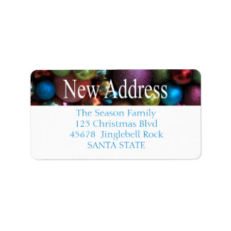 New Address ornaments Holiday Label Address Label
