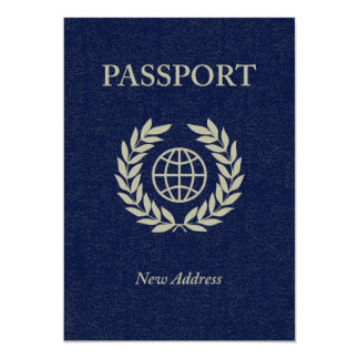 new address passport 13 cm x 18 cm invitation card