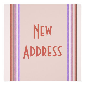 New Address Pastel 13 Cm X 13 Cm Square Invitation Card
