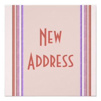 New Address Pastel 5.25x5.25 Square Paper Invitation Card