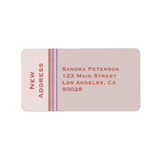 New Address Pastel Address Label