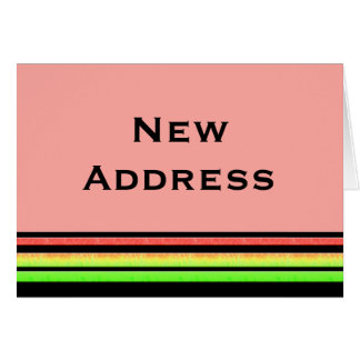 Change of address note cards zazzlecomau for Change of address note cards