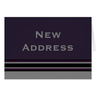 New Address Stripes Card