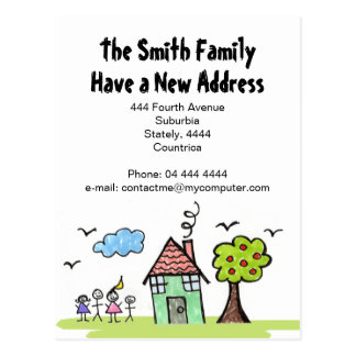 New Address We re Moving House Notification Postcard