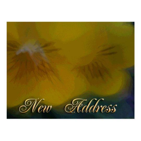 New Address Yellow Flowers Postcard