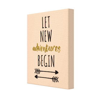 New Adventures Motivational Quote Canvas Print