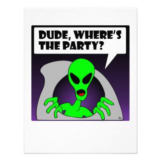 new alien party invitation
