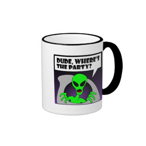 new alien party coffee mug