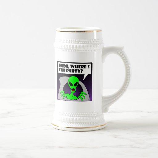 new alien party coffee mugs