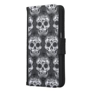 New allover skull pattern samsung galaxy s6 wallet case