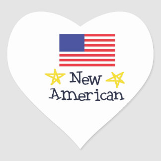 NEW AMERICAN BABY HEART STICKERS