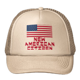 New American Citizen with American Flag Cap
