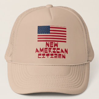 New American Citizen with American Flag Trucker Hat