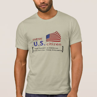new american US citizen star stripes design funny T-Shirt