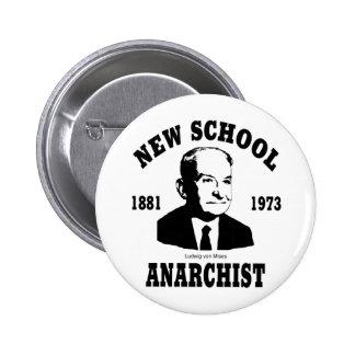 New Anarchist  --  Ludwig von Mises 6 Cm Round Badge
