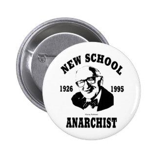 New Anarchist  --  Murray Rothbard 6 Cm Round Badge