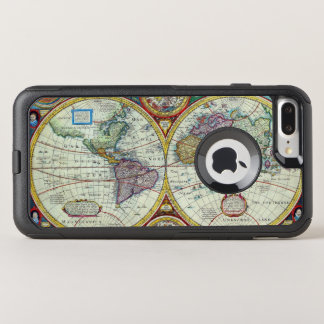 New and Accurate 1626 Map of the World OtterBox Commuter iPhone 8 Plus/7 Plus Case