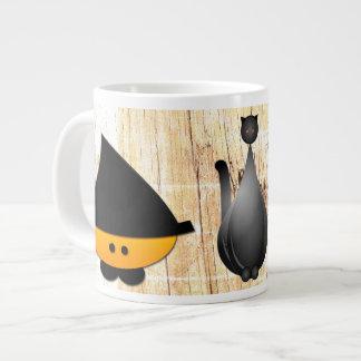 New and the old Halloween Large Coffee Mug