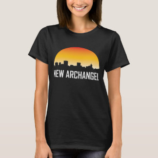 New Archangel Alaska Sunset Skyline T-Shirt