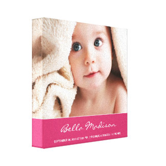 Browse the Baby Canvas Print Collection and personalise by colour, design or style