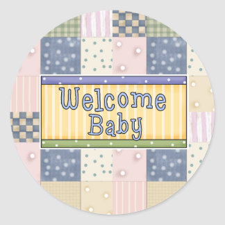 New Arrival Welcome Baby Boy Stickers