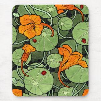 New! Art Nouveau Nasturtiums Mouse Pad