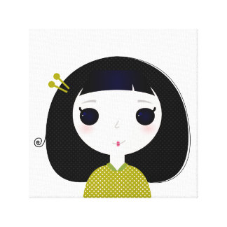 New asia inspired Canvas with Little geisha Canvas Print