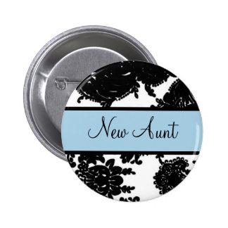 New Aunt 6 Cm Round Badge