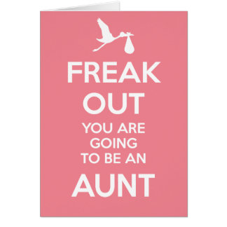 New Aunt Pregnancy Announcement Greeting Card