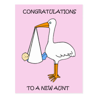 New Aunt  to baby boy, congratulations. Postcard