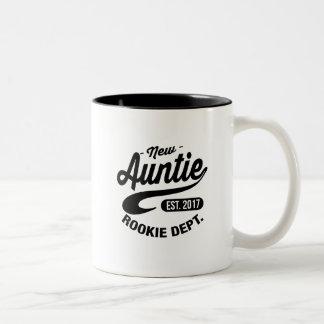New auntie 2017 Two-Tone coffee mug